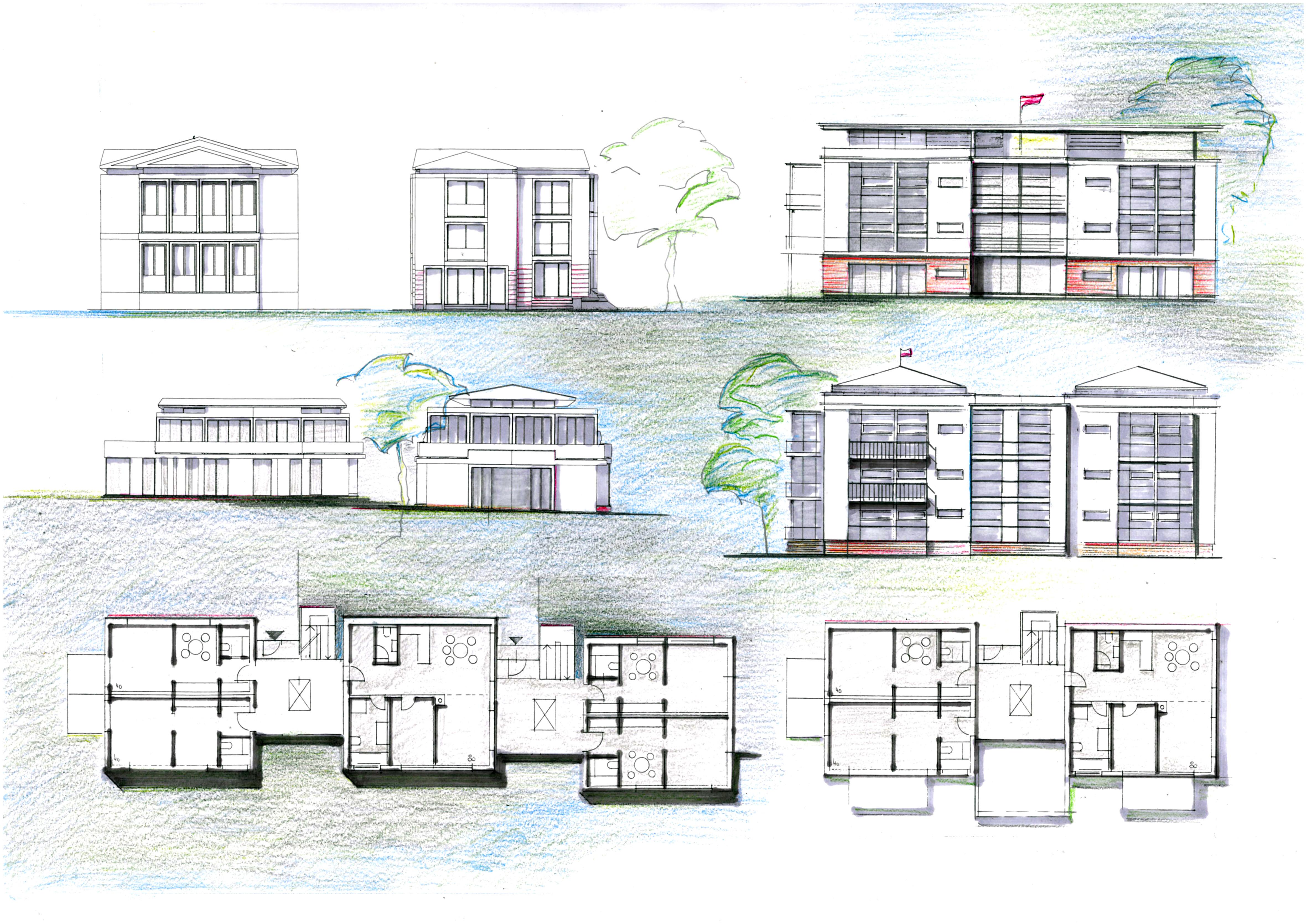 Architektur Haus Skizze Architekt Zeichnen Jntuworld Moderne